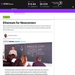 Ethereum for Newcomers