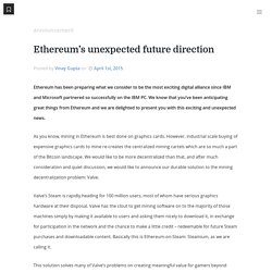 s unexpected future direction - Ethereum Blog