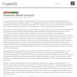 Ethereum: What's the fuss? – CryptoIQ