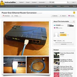 Power Over Ethernet Router Conversion
