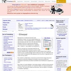 Etherpad - Éditeurs de Texte