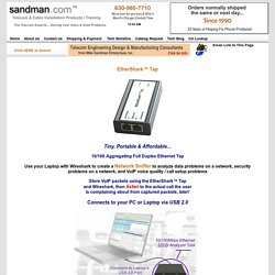 EtherShark™ Tap Aggregating Full Duplex Ethernet Tap from sandman.com