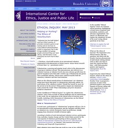 Ethical Inquiry: May 2013