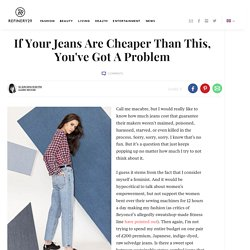 Ethical Clothing - Jeans Manufacturing Costs