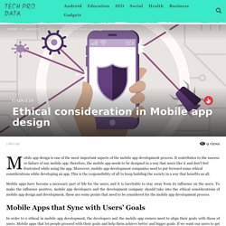 Ethical consideration in Mobile app design - Tech Pro Data