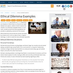 essay on moral dilemma