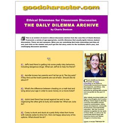 Ethical Dilemmas Archive