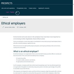 Ethical employers