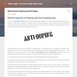 Ethical facets of Doping and Anti-Doping