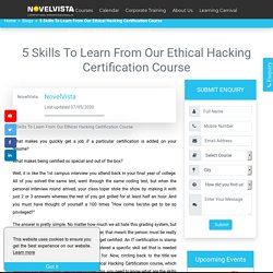 5 Skills To Learn From Our Ethical Hacking Certification Course