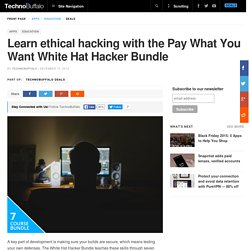 Learn ethical hacking with the Pay What You Want White Hat Hacker Bundle