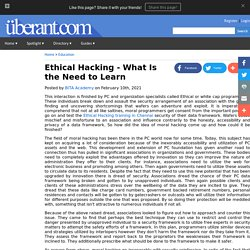 Ethical Hacking - What Is the Need to Learn