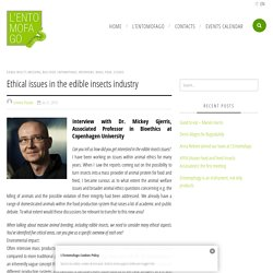Ethical issues in the edible insects industry - Entomofago