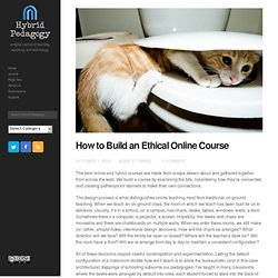 How to Build an Ethical Online Course