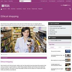 Ethical shopping