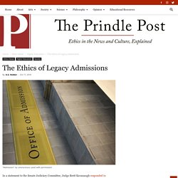 The Ethics of Legacy Admissions - The Prindle Post