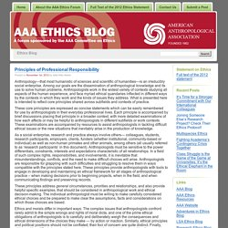 Ethics Blog » Full Text of the 2012 Ethics Statement