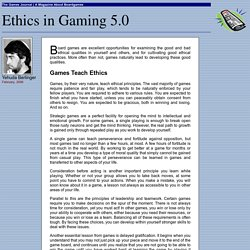 Ethics in Gaming 5.0