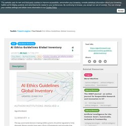 AI Ethics Guidelines Global Inventory - Tool Detail - RRI Tools