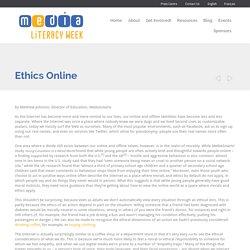 » L'éthique en ligne