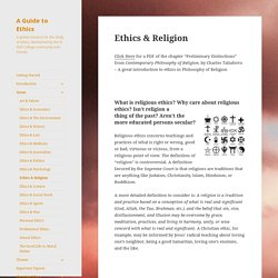 Ethics & Religion – A Guide to Ethics