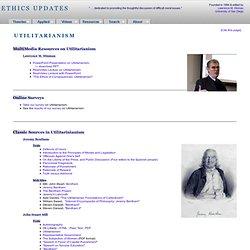 Ethics Updates - Utilitarianism