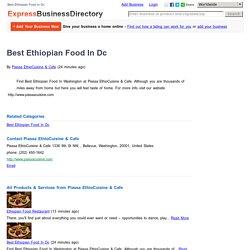 Best Ethiopian Food In Dc