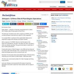 Ethiopia's 1,870mw Gibe III Plant Begins Operations