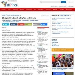 Ethiopia: New Dam Is a Big Win for Ethiopia