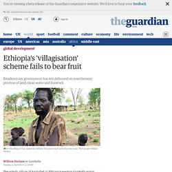 Ethiopia's 'villagisation' scheme fails to bear fruit