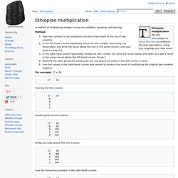 Ethiopian multiplication