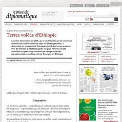 Terres volées d'Ethiopie, par Agnès Stienne (Le Monde diplomatique, décembre 2013)