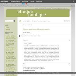 Éthique des affaires et économie sociale