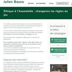 Éthique à l'Assemblée : changer les règles du jeu - Julien Bayou 2017