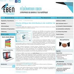 Charte éthique des distributeurs de mobilier de bureau