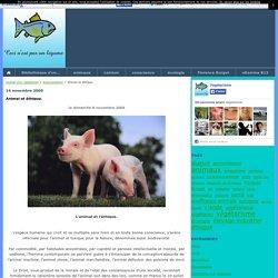 Animal et éthique. - Journal d'un végétarien