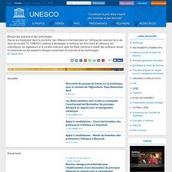 Site de l'Unesco - Éthique des sciences et des technologies