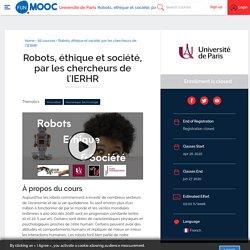 Robots, éthique et société, par les chercheurs de l'IERHR