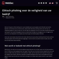 Ethisch phishing voor de veiligheid van uw bedrijf