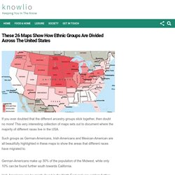 These 26 Maps Show How Ethnic Groups Are Divided Across The United States