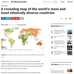 A revealing map of the world's most and least ethnically diverse countries