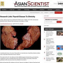 Research Links Thyroid Disease To Ethnicity
