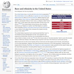 Race and ethnicity in the United States - Wikipedia