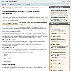 Ethnobotany Education and Training Program Information