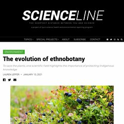 The evolution of ethnobotany