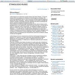 Ethnocritique ! - ETHNOLOGIE-RUSEE