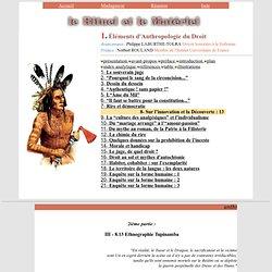 Ethnographie tupinamba - département d'Ethnologie et d'Anthropologie de l'université de la Réunion