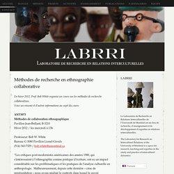 Méthodes de recherche en ethnographie collaborative