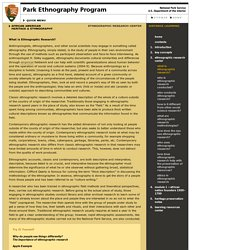 NPS Ethnography: African American Heritage & Ethnography
