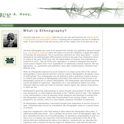 Homepage of Brian A. Hoey, Ph.D., Anthropology